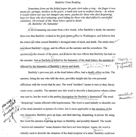 close reading essay rubric Assessment rubric for literature papers evaluator's name: _____ paper information paper number: values for assigned: student name: course knowledgeable manner than the more general close reading that is covered by a1 pertains both to explicit indications of knowledge of genre.
