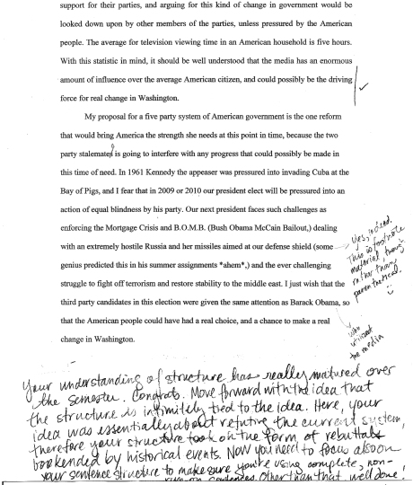 Argumentative Essay Examples Middle School