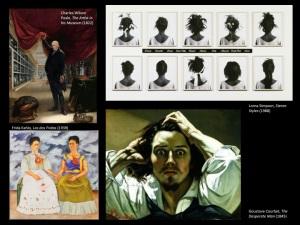 Four self-portraits