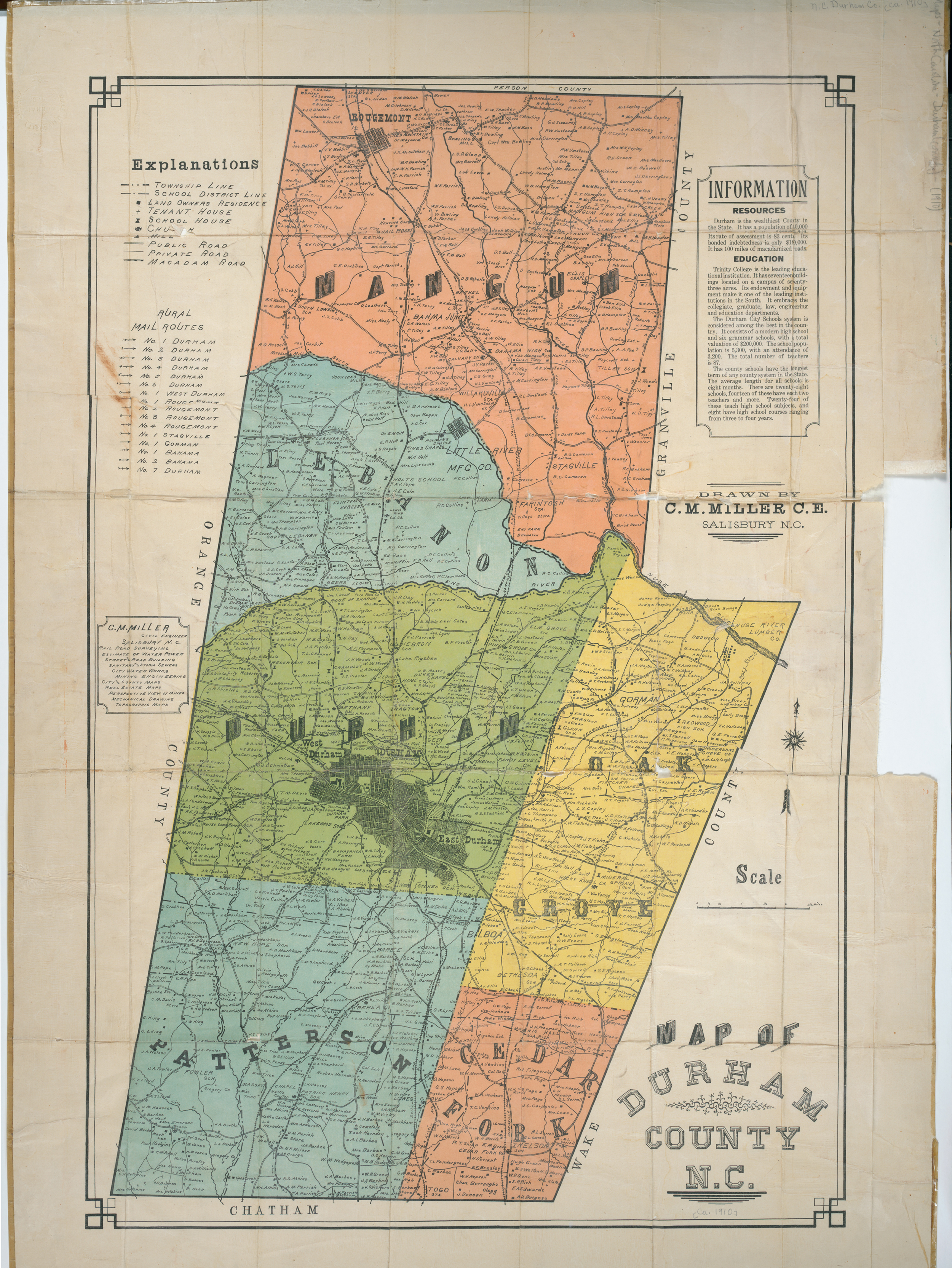 durham county map old | Ms. Garvoille's English I on